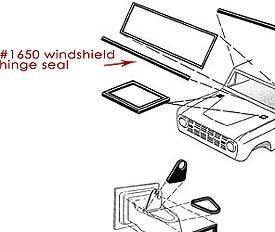 Windshield Hinge Seal New Toms Bronco Parts
