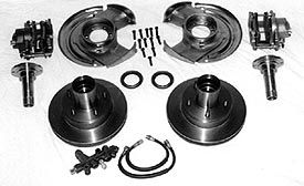 Deluxe Front Disc Brake Kit w/Prop Valve & Bracket -  Dana 30/44, 66-75 Early Ford Bronco, All New Parts