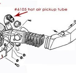 Air Cleaner Hot Air Pickup Tube, 66-77 Ford Bronco, New
