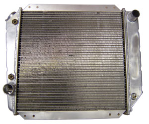 Aluminum Radiator, Reverse Outlets for New Motors, 66-77 Early Ford Bronco