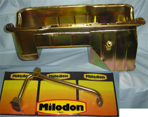 Milodon Major Oil Pan Kit - Oil Pan, Pick Up Tube & Dip Stick/Tube, 289 or 302, 66-77 Ford Bronco, New