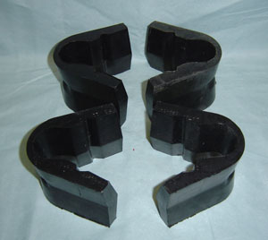 Front Radius Arm C-Bushings - Rubber, for Stock Suspension, 65-79 Ford Trucks, New (set of 4)-tbp