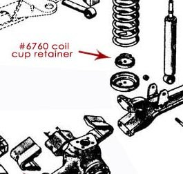 Coil Cup Retainer, 1966-1975 Ford Trucks (F100/F150, F250) 4x4, New (each)