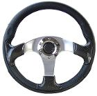 Custom Steering Wheel - Carbon Fiber w/Adapter, 66-77 Early Ford Bronco, New