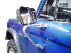 Fold-Away Side Mirrors, 66-77 / 78-79 Ford Bronco, Pair, New