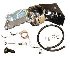 Power Brake Kit w/Chrome Booster - No Modify Conversion w/ Drum Lines, 66-77 Early Ford Bronco, New