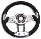 Deluxe Steering Wheel - 66-77 Early Ford Bronco, New w/Adapter