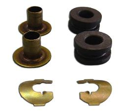 Shift Lever Bushings w/Clips - Manual, 66-72 Early Ford Bronco, New (per kit)