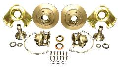 Front Disc Brake Conversion Kit - Dana 30 & 44, 66-75 Early Ford Bronco *ALL NEW PARTS