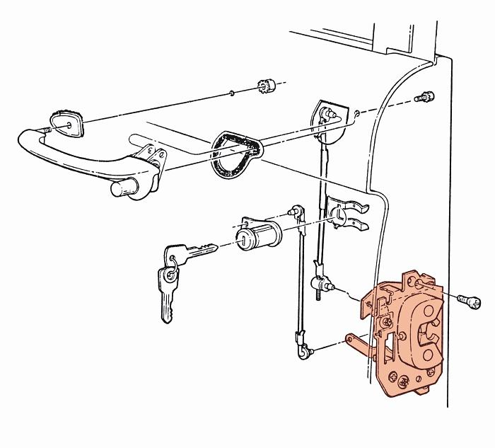 door latch assembly help