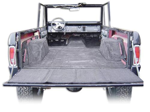 PREMIUM Tan Carpet Kit, One-Piece, 66-76 Early Ford Bronco, New