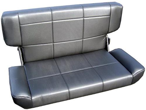"Rear Bench Seat, Fold & Tumble, Black, 40"" Wide, 66-77 Ford Bronco, Slight Stains"