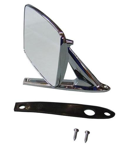 Side Mirror - SHOW QUALITY, Driver or Passenger, 68-77 Early Ford Bronco, New Blem