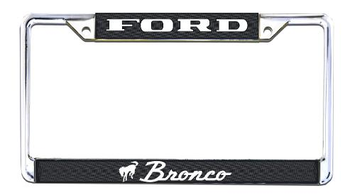 Bronco Script License Plate Frame, New, 66-77 Ford Bronco