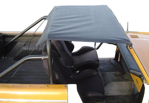"""BREEZER"" Roll Bar Top Skin Only for Standard Bar - Black, 66-77 Early Ford Bronco, New"