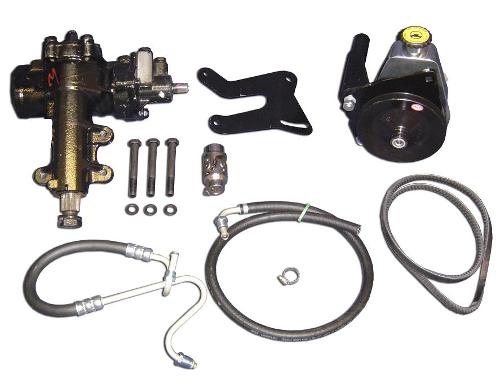 Power Steering Conversion Kit - 3.1:1 Ratio, 289/302  66-77 Early Ford Bronco, New, Scratches