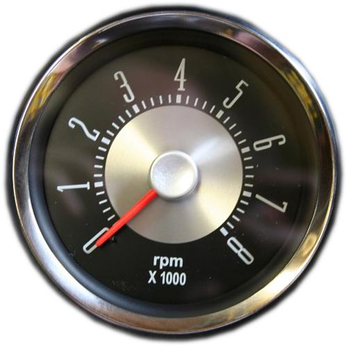 "OE Style Tachometer - Single Digit, 6 Cyl or V-8, 3 3/8"" Dia, 66-77 Ford Bronco, NEW ITEM!"