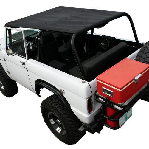 """BREEZER"" Roll Bar Top Skin Only for Family Bar - Black, 66-77 Early Ford Bronco, New"