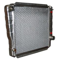 High Efficency 3-core Aluminum Radiator - V8, Auto/Manual, 66-77 Ford Bronco, New
