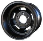 US Mags Slotted Indy Wheel, BLACK Aluminum - 15x10, 5x5.5 Bolt Pattern - 66-77 Bronco