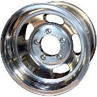 US Mags Slotted Indy Wheel, Polished Aluminum - 15x10, 5x5.5 Bolt Pattern - 66-77 Bronco