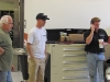 Matt of Tom's Bronco Parts with Chip Foose checking out Kiefer Sutherland's Bronco